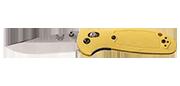Mini Griptilian - Lame 74mm - Manche GFN Jaune - Clip réversible