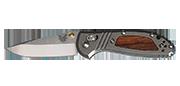 Mini Griptilian - Lame 74mm - Manche titane insert bois - Clip réversible - Edition Limitée