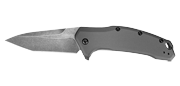 Link Tanto Gray Aluminium Blackwash - Lame 84mm - Manche Aluminium - Clip réversible