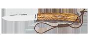 Campaña 3D Lame 100mm - Micarta Olive - Etui cuir
