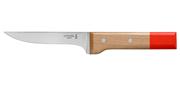 Couteau N°122 Viande et Volaille Pop (rouge)- Lame 130mm - Manche hêtre